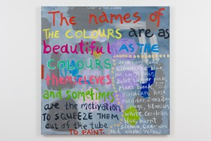 The Lives of the colours by Angela Brennan contemporary artwork