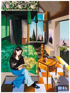 Regina liest by Susanne Kühn contemporary artwork mixed media