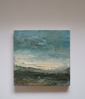 Soft Sky (Zennor) by Louise Balaam contemporary artwork painting, works on paper