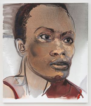 De acteur (Portrait of Romana Vrede) by Marlene Dumas contemporary artwork painting, works on paper