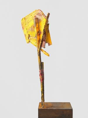 untitled: yellowsign; 2020 lockdown 16 by Phyllida Barlow contemporary artwork
