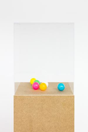 Tischtennisbälle, poliert; Table Tennis Balls, Polished by Karin Sander contemporary artwork