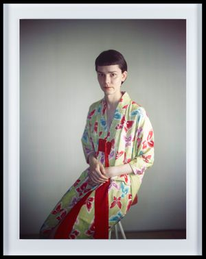 Melanie in kimono by Richard Learoyd contemporary artwork photography