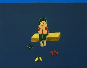 On the chair by Kim Beom Soo contemporary artwork