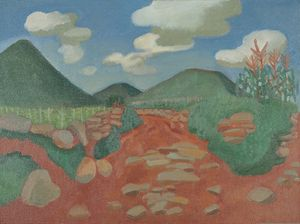 Sketch in Guishan - Red Earth Road by Mao Xuhui contemporary artwork