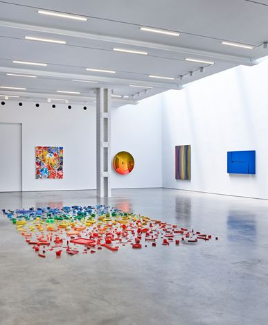 Exhibition view: Group Exhibition,Spectrum, Lisson Gallery, 504 West 24th Street, New York (20 July–27 August 2020). Courtesy Lisson Gallery.