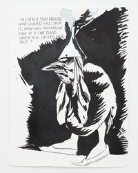 No Title (Or even if...) by Raymond Pettibon contemporary artwork painting, works on paper, drawing
