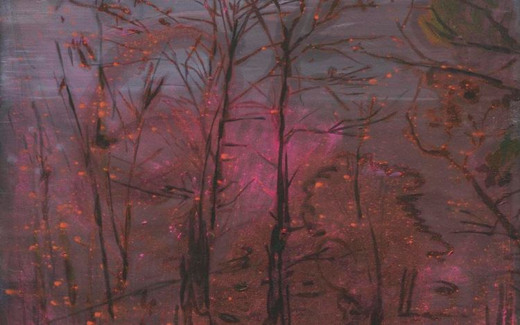 Elizabeth Magill,mothlight (2020) (detail). Oil on canvas. 40.5 x 50.5 cm. Courtesy Kerlin Gallery.