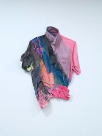 The Shirt Says I Feel IV by Hayley Tompkins contemporary artwork painting, textile