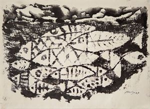 Fish by The Estate Of Anwar Jalal Shemza contemporary artwork