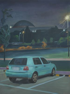 Night-Unliit National Assembly of Korea by Dongwook Suh contemporary artwork