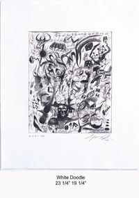 White Doodle by Ashley Bickerton contemporary artwork print