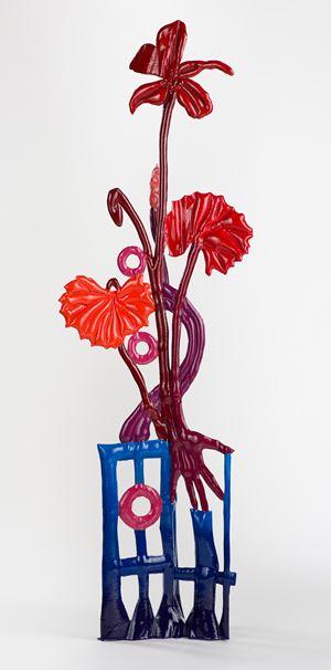 Viola grandiflora with hand (after Floriligeum) by Caroline Rothwell contemporary artwork