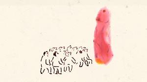 The Crowd by Tala Madani contemporary artwork