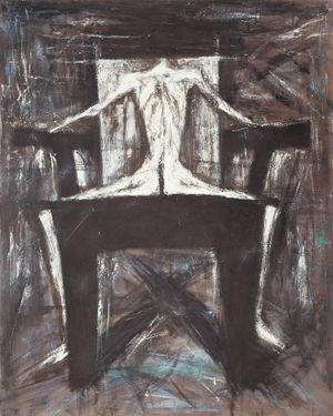 White Figure in a High-backed Chair by Mao Xuhui contemporary artwork