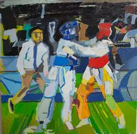 Olympic Twi Keon Do #2 by Clintel Steed contemporary artwork painting