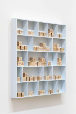 La bibliothèque des cubes en bois by Dominique Gonzalez-Foerster contemporary artwork