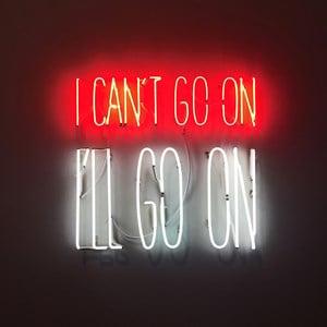 I can´t Go On. I´ll Go On by Alfredo Jaar contemporary artwork