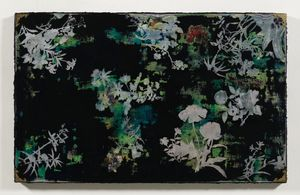 Imitating Mother-Of-Pearl Inlay Exercise (Viridian And Black) by Su Meng-Hung contemporary artwork painting