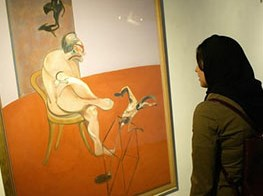 Francis Bacon and gay Iranian artist Bahman Mohasses shown in Tehran