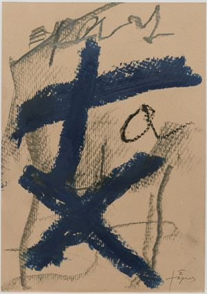 Signes blaus by Antoni Tàpies contemporary artwork