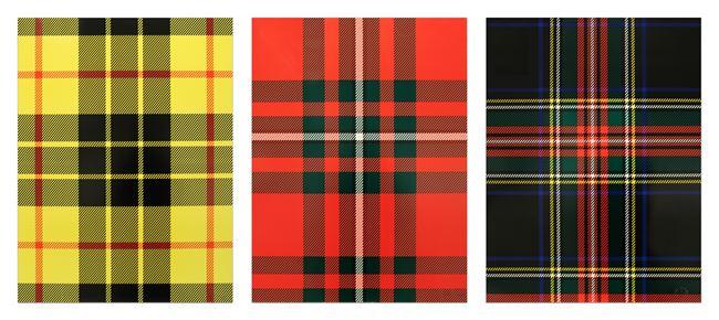 Tartan Set (Dress MacLeod, MacGregor, Black Steward) by Sarah Charlesworth contemporary artwork
