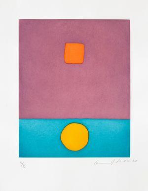 Le soleil a vécu by Etel Adnan contemporary artwork