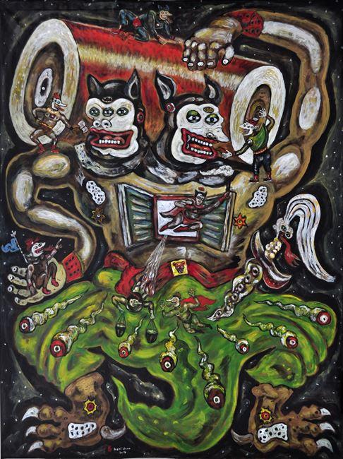 Pembawa Baterai Superhero - Superhero by Heri Dono contemporary artwork
