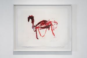 Das trojanische Pferd by Martha Jungwirth contemporary artwork print