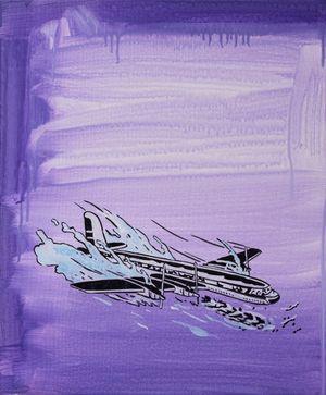 Landing by Jeongsu Woo contemporary artwork painting