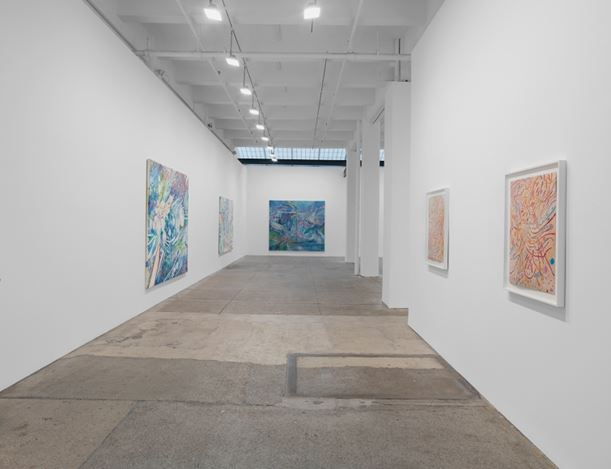 Exhibition view: Mildred Thompson,Radiation Explorations and Magnetic Fields, Galerie Lelong & Co., New York (22February–21 April 2018). Courtesy Galerie Lelong & Co.