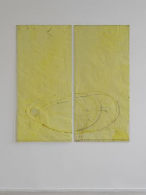 Endnote, yellow (model, small) by Ian Kiaer contemporary artwork