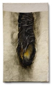 Combustion by Alberto Burri contemporary artwork sculpture