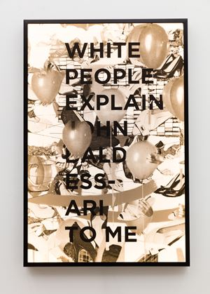 White People Explain John Baldessari To Me by Jibade-Khalil Huffman contemporary artwork