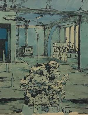 Scenery in Blue #14 by William Buchina contemporary artwork