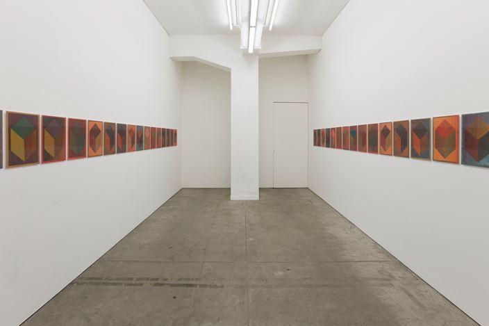 Exhibition view: Jonathan Monk, Lenticular LeWitt,TARO NASU, Tokyo (12 April-12 May 2018). © 2018 Jonathan Monk. Courtesy TARO NASU.