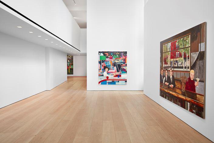 Exhibition view: Hernan Bas,TIME LIFE, Lehmann Maupin, 501 West 24th Street, New York (7 November 2019–4 January 2020). Courtesy the artist and Lehmann Maupin, New York, Hong Kong, and Seoul.Photo: Matthew Herrmann.