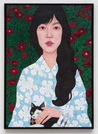 Flower and Woman I by Sungsic Moon contemporary artwork painting