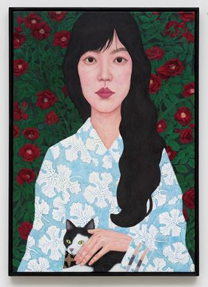Flower and Woman I by Sungsic Moon contemporary artwork