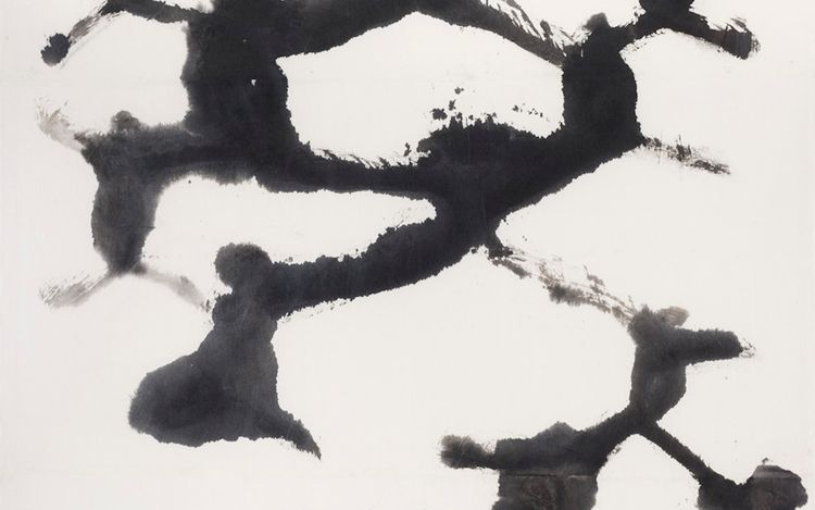 Suh Se Ok, People (1995) (detail). Ink on Korean mulberry paper. 258 x 162 cm. © The Estate of Suh Se Ok. Courtesy Lehmann Maupin, New York, Hong Kong, Seoul, and London.
