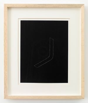 Untitled (from Twenty-two Constructions from 1967) by Fred Sandback contemporary artwork