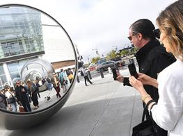 Kiss, Hug, or Get Lost in Olafur Eliasson's Giant Reflective Spheres