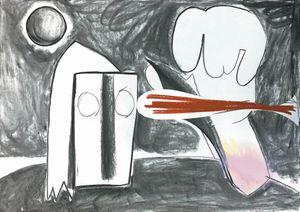 The Painter by Aurélie Gravas contemporary artwork