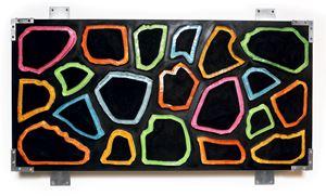 Wall-Wall No. 4 (Black Invert) by Ashley Bickerton contemporary artwork