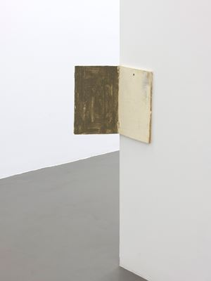 Untitled (hinge painting) by Lawrence Carroll contemporary artwork