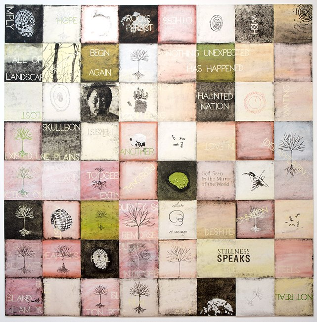 The Emergency of Being II by Imants Tillers contemporary artwork