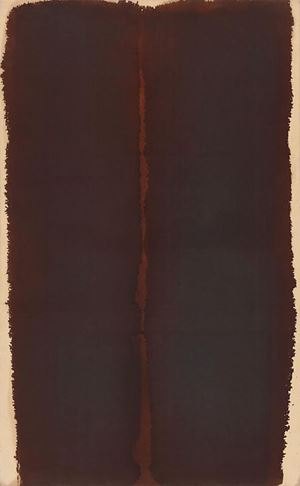 Burnt Umber by Yun Hyong-keun contemporary artwork