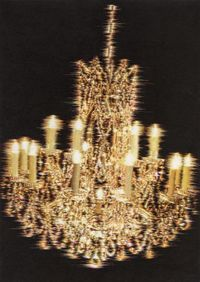What you see is the unseen / Chandeliers for Five Cities SSK 06-02 by Kyungah Ham contemporary artwork sculpture