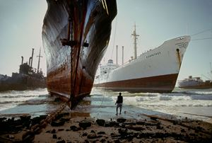Ship breaking yard, near Karachi, Pakistan by Steve McCurry contemporary artwork