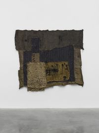 AKUFAMA by Ibrahim Mahama contemporary artwork sculpture, textile
